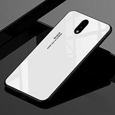 Custodia Silicone Specchio Laterale Cover per OnePlus 7 Bianco