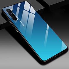 Custodia Silicone Specchio Laterale Cover per OnePlus Nord Blu