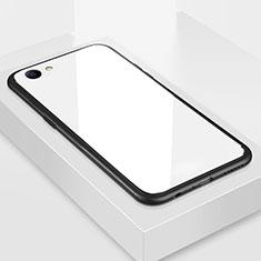 Custodia Silicone Specchio Laterale Cover per Oppo A3 Bianco