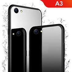 Custodia Silicone Specchio Laterale Cover per Oppo A3 Nero