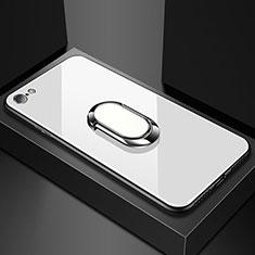Custodia Silicone Specchio Laterale Cover per Oppo A71 Bianco