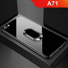 Custodia Silicone Specchio Laterale Cover per Oppo A71 Nero