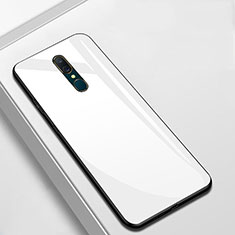 Custodia Silicone Specchio Laterale Cover per Oppo A9 Bianco
