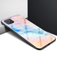 Custodia Silicone Specchio Laterale Cover per Oppo A92s 5G Arancione