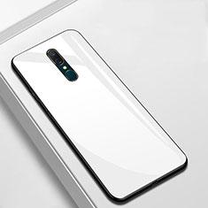 Custodia Silicone Specchio Laterale Cover per Oppo A9X Bianco