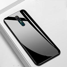 Custodia Silicone Specchio Laterale Cover per Oppo A9X Nero