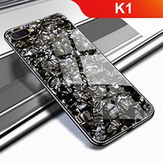 Custodia Silicone Specchio Laterale Cover per Oppo K1 Nero