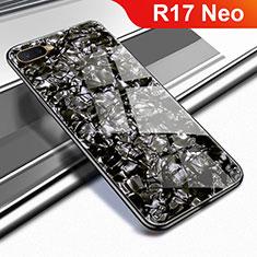 Custodia Silicone Specchio Laterale Cover per Oppo R17 Neo Nero
