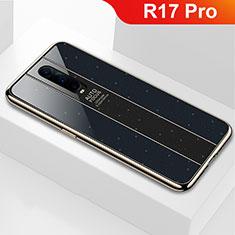 Custodia Silicone Specchio Laterale Cover per Oppo R17 Pro Nero