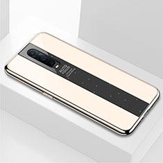 Custodia Silicone Specchio Laterale Cover per Oppo R17 Pro Oro