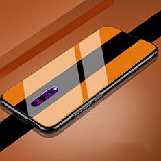Custodia Silicone Specchio Laterale Cover per Oppo Reno Z Arancione