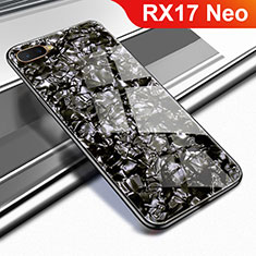 Custodia Silicone Specchio Laterale Cover per Oppo RX17 Neo Nero