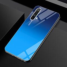 Custodia Silicone Specchio Laterale Cover per Realme X50m 5G Blu