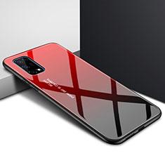 Custodia Silicone Specchio Laterale Cover per Realme X7 5G Rosso