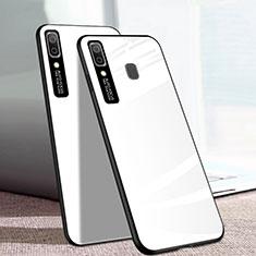 Custodia Silicone Specchio Laterale Cover per Samsung Galaxy A20e Bianco