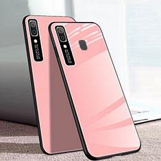 Custodia Silicone Specchio Laterale Cover per Samsung Galaxy A20e Rosa
