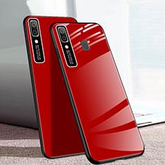 Custodia Silicone Specchio Laterale Cover per Samsung Galaxy A20e Rosso