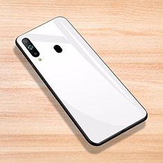 Custodia Silicone Specchio Laterale Cover per Samsung Galaxy A8s SM-G8870 Bianco