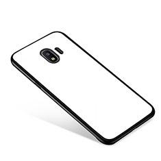 Custodia Silicone Specchio Laterale Cover per Samsung Galaxy J2 Pro (2018) J250F Bianco