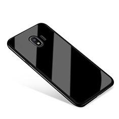 Custodia Silicone Specchio Laterale Cover per Samsung Galaxy J2 Pro (2018) J250F Nero