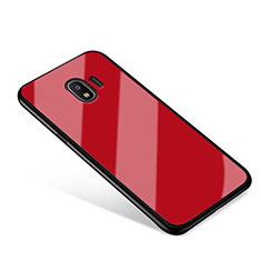 Custodia Silicone Specchio Laterale Cover per Samsung Galaxy J2 Pro (2018) J250F Rosso