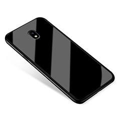 Custodia Silicone Specchio Laterale Cover per Samsung Galaxy J5 (2017) SM-J750F Nero