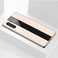 Custodia Silicone Specchio Laterale Cover per Samsung Galaxy Note 10 5G Oro