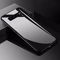 Custodia Silicone Specchio Laterale Cover per Samsung Galaxy S10 5G Nero