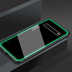 Custodia Silicone Specchio Laterale Cover per Samsung Galaxy S10 5G SM-G977B Verde