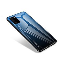 Custodia Silicone Specchio Laterale Cover per Samsung Galaxy S20 FE 4G Blu