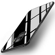 Custodia Silicone Specchio Laterale Cover per Samsung Galaxy S9 Nero