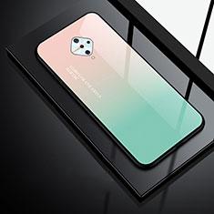 Custodia Silicone Specchio Laterale Cover per Vivo X50 Lite Verde
