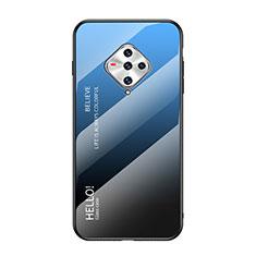 Custodia Silicone Specchio Laterale Cover per Vivo X50e 5G Blu