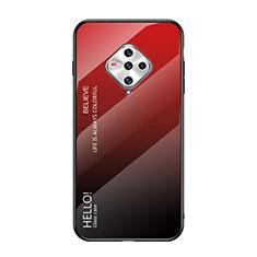 Custodia Silicone Specchio Laterale Cover per Vivo X50e 5G Rosso