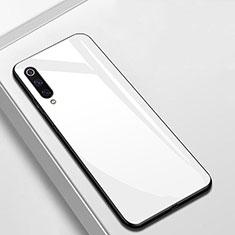 Custodia Silicone Specchio Laterale Cover per Xiaomi CC9e Bianco