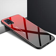 Custodia Silicone Specchio Laterale Cover per Xiaomi Mi 10 Lite Rosso