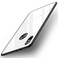 Custodia Silicone Specchio Laterale Cover per Xiaomi Mi 6X Bianco
