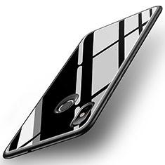 Custodia Silicone Specchio Laterale Cover per Xiaomi Mi 8 Nero