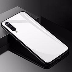 Custodia Silicone Specchio Laterale Cover per Xiaomi Mi 9 Bianco