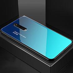 Custodia Silicone Specchio Laterale Cover per Xiaomi Mi 9T Blu