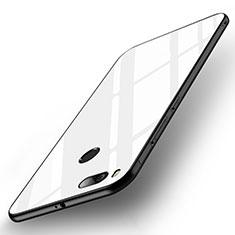 Custodia Silicone Specchio Laterale Cover per Xiaomi Mi A1 Bianco