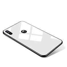 Custodia Silicone Specchio Laterale Cover per Xiaomi Mi Mix 2S Bianco
