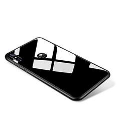 Custodia Silicone Specchio Laterale Cover per Xiaomi Mi Mix 2S Nero