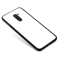 Custodia Silicone Specchio Laterale Cover per Xiaomi Pocophone F1 Bianco