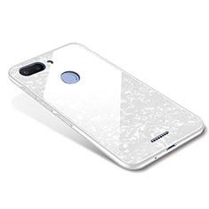Custodia Silicone Specchio Laterale Cover per Xiaomi Redmi 6 Bianco