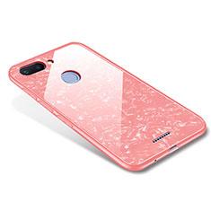 Custodia Silicone Specchio Laterale Cover per Xiaomi Redmi 6 Oro Rosa