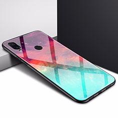 Custodia Silicone Specchio Laterale Cover per Xiaomi Redmi 7 Ciano