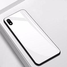 Custodia Silicone Specchio Laterale Cover per Xiaomi Redmi 7A Bianco