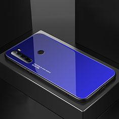 Custodia Silicone Specchio Laterale Cover per Xiaomi Redmi Note 8 Blu
