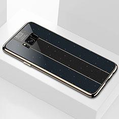 Custodia Silicone Specchio Laterale Cover S01 per Samsung Galaxy S8 Nero
